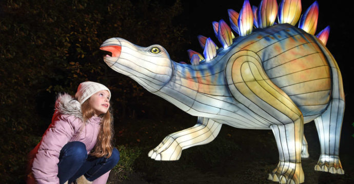 Giant lanterns edinburgh zoo