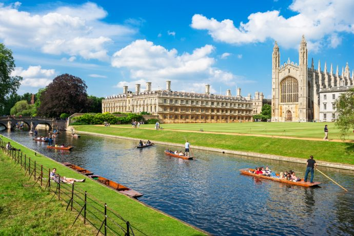 Cambridge - day trips from london by car