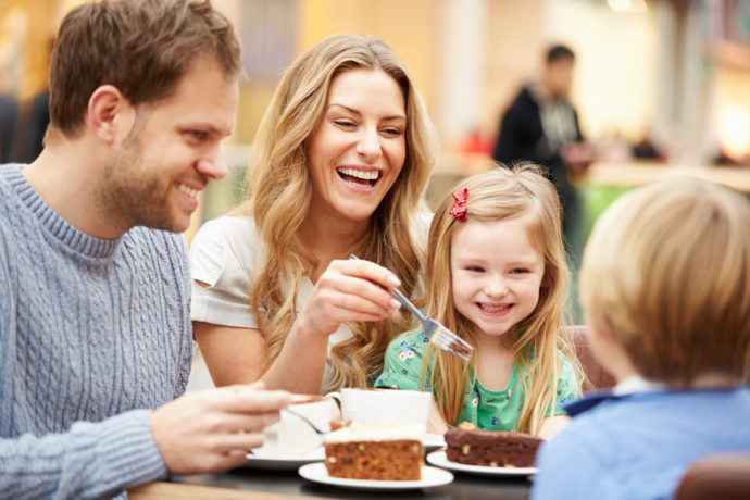 Happy Family Eating Lunch - places to eat in paris
