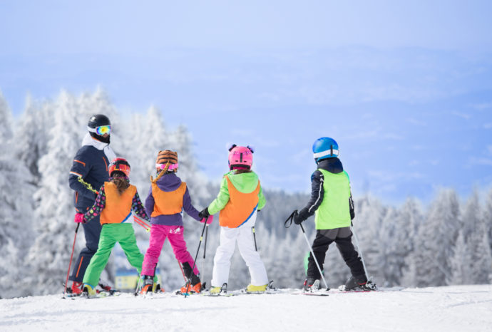 Kids on the Ski Slopes - Family Ski Holiday