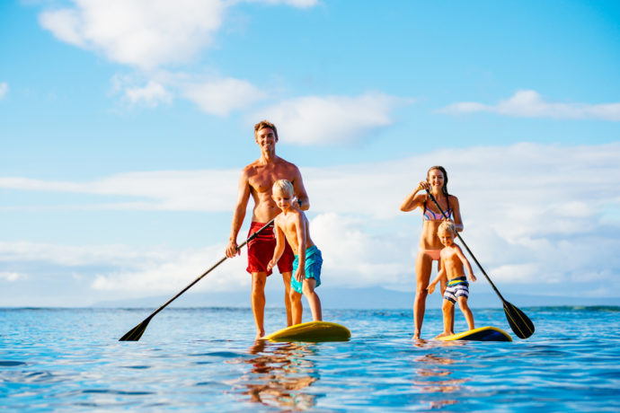 Family on Paddle - Summer Holiday Destinations Europe