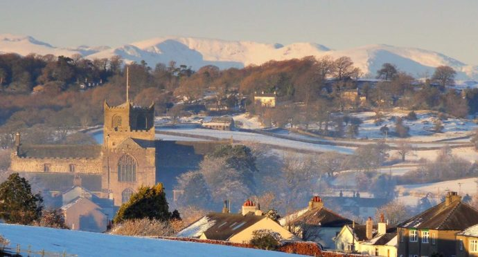Cartmel in the snow